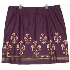 NWT Talbots 20WP Skirt Purple Floral NWT $78 New